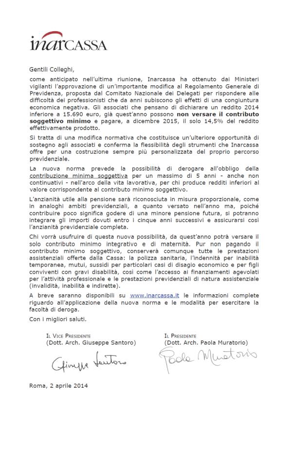 comunicato inarcassa apr 2014-2