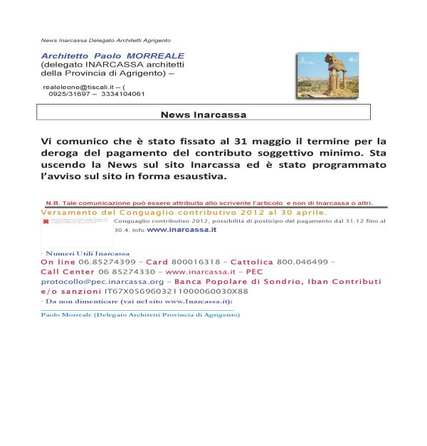 comunicato inarcassa apr 2014